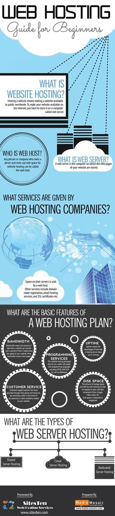 Web Hosting Guide For Beginners .  #infographic #WebHosting #Blogging    Get hosting with the best and fastest customer service for your new website    (promo link)