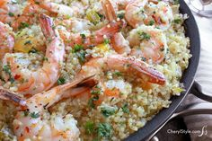This garlic butter shrimp and quinoa recipe is a tasty one-pot wonder! (This may make me like quinoa) :)