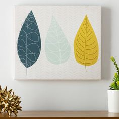 Found it at AllModern - World of Leaves Wall Art on Canvas