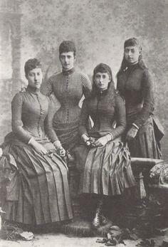Alexandra and her daughters, around 1885