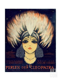 Cover for Score of 'Die Perlen Der Cleopatra', Operetta by Oscar Straus, 1923 Giclee Print by German School at Art.com