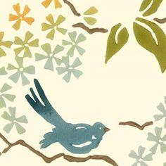 Birds - Galbraith & Paul - multiple color ways - hand made and printed