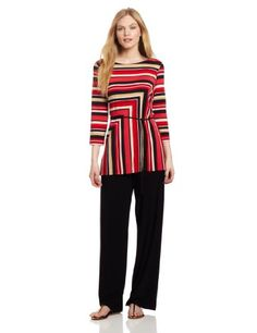 Danny & Nicole Women's Jersey Tunic Top And Pant Set « Clothing Impulse