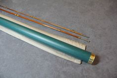 """WRIGHT & MCGILL ROD CO. - CO MODEL """"GRANGER ARISTOCRAT"""", 7' 2PC 1 TIP 4 WT, Medium fast dry fly action. Rod was refinished, looks great! Bright nickel silver ferrules. Wrapped in golden silks and tipped in brown."""