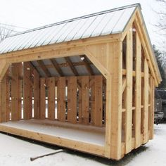 6' x 14' Woodbin shown with optional alternating siding, (a very popular size), with 4 cords of firewood storage. Available as firewood storage shed plans ($50), woodbin kits (estimated assembly time - 1 person, 20 hours), or fully assembled woodsheds. http://jamaicacottageshop.com/shop/woodbin-6x/ http://cdn.jamaicacottageshop.com/wp-content/uploads/pdfs/6x14Woodbin.pdf