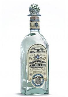 "Los Abuelos Blanco Tequila - 100% estate grown ""blue"" Agave tequilana Weber, distilled and stored in stainless steel tanks. Blanco never touches wood. Our Blanco label contains a drawing of our distillery."