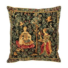 Embroiderer cushion