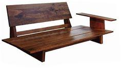 【マジョルカ】 ウォールナット無垢材のアーム脱着式片肘ソファ|天然木にこだわったMADE IN 広島|有限会社常盤家具製作所