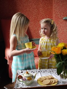 Rachel Riley Silk Gingham Dress in Aqua & Silk Tie Dye Dress