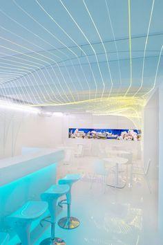 Bar Aquarium. Location: Uherske Hradiste, Czech Republic; firm: Next Level Studio; photo: Martin Kocich; year: 2012