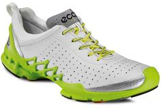 Ecco Biom A White-Silver Metallic Running On Treadmill, Running Gear, Barefoot Running, Minimalist Shoes, Best Running Shoes, Golf Shoes, Workout Gear, Workouts, Me Too Shoes