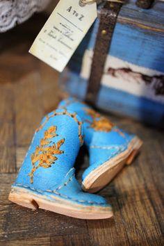 Trendy Scallop Trim Ankle Strap Shoes 12/'/' Blythe Pulip Dolls Dress Up Blue