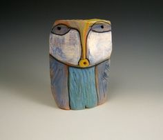Owl clay sculpture Owl Person  Singing to the by BlueFireStudio, $48.00