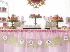 Cumpleaños de princesas para Erín por su primer añito