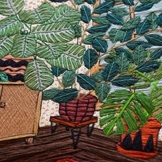 emb-2  Fiber artist Sarah K. Benning is self-taught in the craft of embroidery