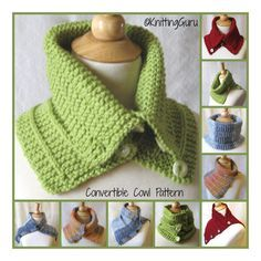 Knit Cowl Capelet Pattern- Easy Knitting Garter Rib - with 2 Tutorials Knitted Capelet, Knit Cowl, Knitted Hats, Easy Knitting, Loom Knitting, Knitting Patterns, Crochet Patterns, Cowl Scarf, Shawl