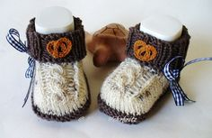 Baby Knitting Patterns Booties Knitted & Crocheted Shoes – Baby Shoes Costume – a unique product by … Kids Socks, Baby Socks, Baby Dirndl, Gestrickte Booties, Knitting Patterns Boys, Baby Booties, Diy For Kids, Knit Crochet, Baby Boy