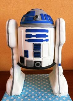 R2D2 Cake from star wars the claw wors this cake reminds one of my friends in England that would alwayse play with that every time I see it it reminds me of my friend that is why I pined this cake.
