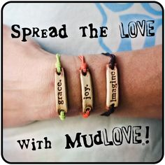 Great bracelets for a good cause. Also a good idea for fund raisers...