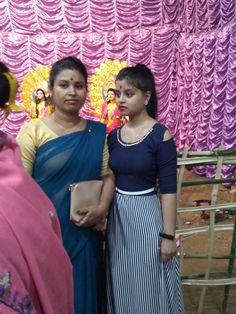 Happy Durga Puja, Sari, Skirts, Fashion, Saree, Moda, Fashion Styles, Skirt