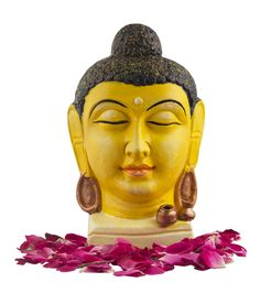 This Buddha head with a serene and peaceful meditating expression will surely provide a tranquil tone to your place. It is intricately and diligently handcrafted by the artisans. It is beautifully painted in yellow and has two golden pots in the front. It would surely add to the beauty and uniqueness of your house.