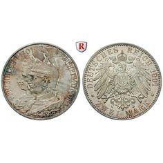 Deutsches Kaiserreich, Preussen, Wilhelm II., 2 Mark 1901, 200 Jahre Königreich, A, f.st, J. 105: Wilhelm II. 1888-1918. 2 Mark 1901… #coins