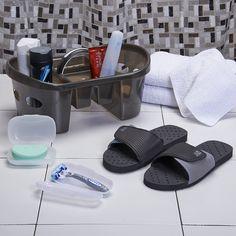 Deluxe Shower Pak with Slides | Dorm Bedding and Bath | OCM.com