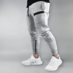 New Clothing Man Pants Casual Skinny Trousers Bodybuilding Gyms Pants – liligla Mens Jogger Pants, Gym Pants, Mens Sweatpants, Fashion Pants, Mens Fashion, Woman Fashion, Joggers Outfit, Mens Clothing Styles, Look Cool