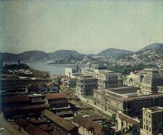 O centro do RJ em 1914. Foto Marc Ferrez ,colorida pelo photochrome dos irmãos Lumiere !