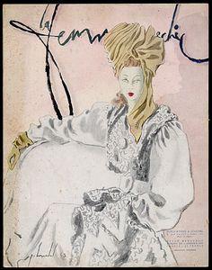数量La Femme别致,1944年1月插图由皮埃尔Louchel,时尚的马德琳Vramant