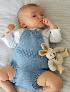 Romper Dress in Debbie Bliss Baby Cashmerino - Discover more Patterns by Debbie Bliss at LoveCrafts. From knitting & crochet yarn and patterns to embroidery & cross stitch supplies! Baby Boy Knitting Patterns, Knitting For Kids, Baby Patterns, Knitting Books, Romper Suit, Romper Dress, Crochet Baby, Knit Crochet, Baby Pullover