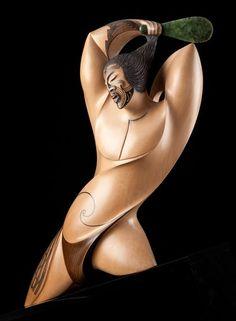 Once a Warrior by Rex Homan, Māori artist (KR131201)