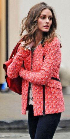 Olivia Palermo Zip-up Jacket..cute coat and great color