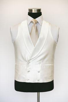 Elite Ivory Double Breasted Waistcoat with Creme Tie Suit Vest, Vest Men, Wedding Waistcoats, Double Breasted Waistcoat, Grooms Party, Nehru Jackets, Party Suits, Groom Outfit, Wedding Suits
