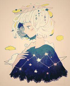 connect the stars. - tofuvi // art // drawing // inspiration // illustration // artsy // sketch