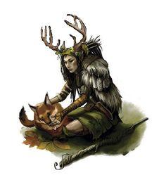 Wood elf druid, Chant