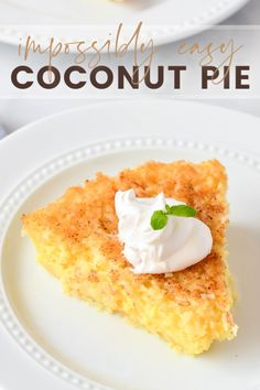You may remember this Impossibly Easy Coconut Pie from years ago. Unlike many pies, you don't bake this in a pie shell – instead, the pie magically makes its own crust.