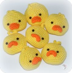 "Little Yellow Duck Brooch - Free Amigurumi Pattern - PDF Version - Click to ""Little Yellow Duck Brooch by AmigurumiBB"" below picture here: http://amigurumibb.com/free-patterns-and-tutorials/"