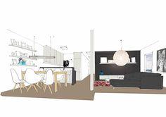 Interior design of a flat in Bratislava Bratislava, Floor Plans, Flats, Interior Design, Loafers & Slip Ons, Nest Design, Home Interior Design, Interior Designing, Home Decor