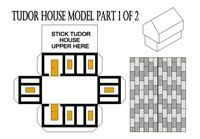 Tudor period free learning printables including paper houses great tudor house nets fandeluxe Images