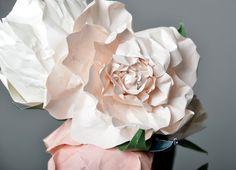Paper bouquet.
