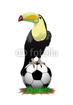Vektor: tucan_soccer