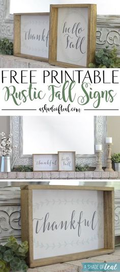 Free Printable Rustic Fall Signs | A Shade Of Teal