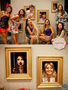 Open picture frame photo booth!