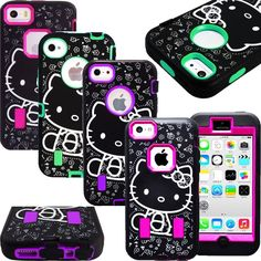 Hello Kitty Cute Case for iPhone 5 5S 5C SE 6 6S Plus Shockproof Strong Cover #UnbrandedGeneric