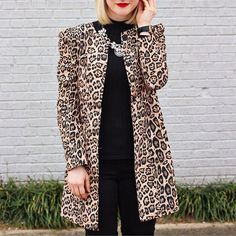 Shop Yellow Long Sleeve Leopard Print Coat at ROMWE, discover more fashion styles online. Yellow Trench Coat, Long Trench Coat, A Spoonful Of Style, Leopard Print Coat, Personal Style, Long Sleeve, Casual, Clothes, Outfits