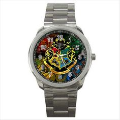 HARRY POTTER HOGWARTS SCHOOL Quality Sport Metal Wrist Watch Gift D06