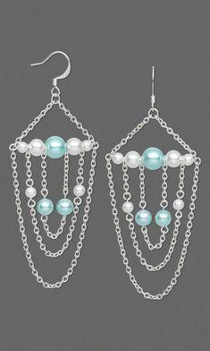 Beaded chain earrings. Craft ideas from LC.Pandahall.com