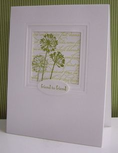"lovely focal point **** Stamp set: ""Simply Soft"", 2011-12 Hostess set, retired"