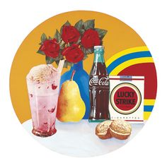 The Pop Object: Tom Wesselmann, Still Life #34, 1963 Acrylic and collage on panel 47 1/2 inches diameter (120.7 cm) Private Collection Art © Estate of Tom Wesselmann / Licensed by VAGA, New York, NY